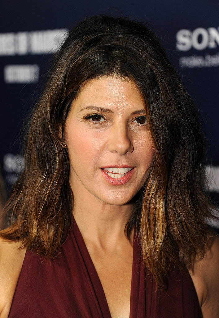 Marisa Tomei wore her ombre hair down.