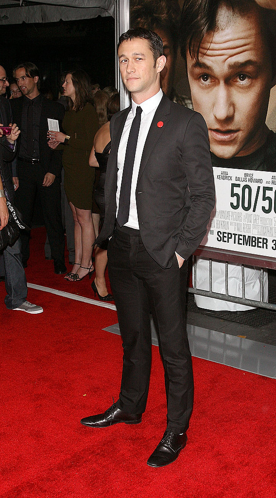 Joseph Gordon-Levitt in a skinny black suit.