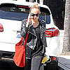 Nicole Richie Leaves the Gym Wearing Leather Jacket Pictures