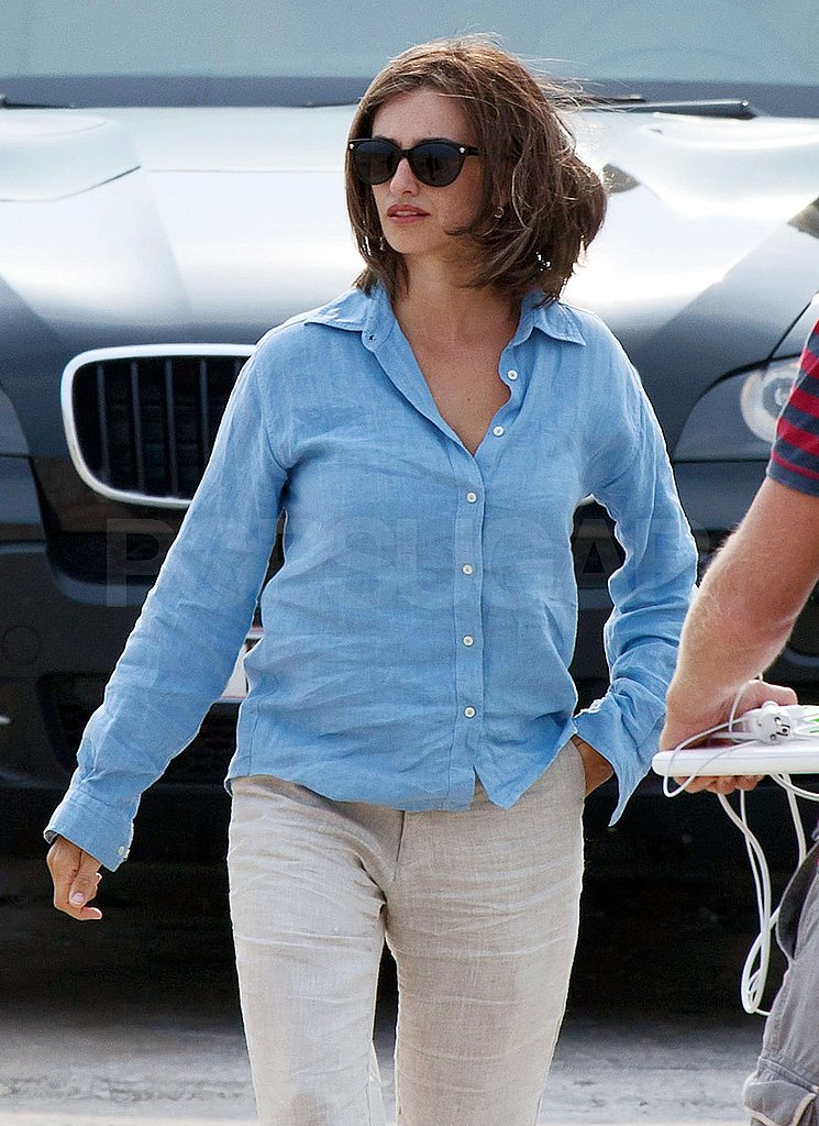 Penelope Cruz headed to work.