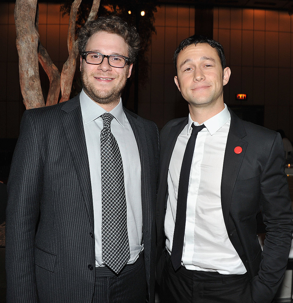 Seth Rogen and Joseph Gordon-Levitt hung out at the 50/50 premiere afterparty.