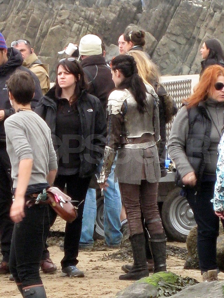 Kristen Stewart in Wales for Snow White and the Huntsman.