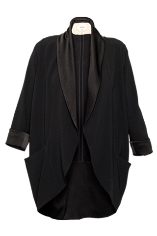 One of our editors owns this perfectly draped tuxedo-inspired jacket.  Wilfred Chevalier Blazer with Satin Lapels ($225)