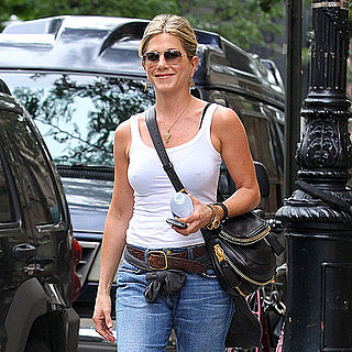 Jennifer Aniston Walking Around NYC in a White Tank Pictures