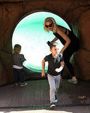 Gwen Stefani with Kingston at the zoo.