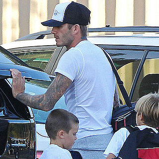 David Beckham Pictures at Romeo and Cruz's Practice