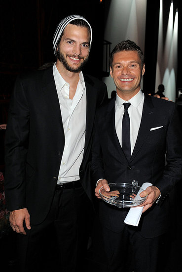 Ashton Kutcher helped honor Ryan Seacrest at the Promise Gala in LA.