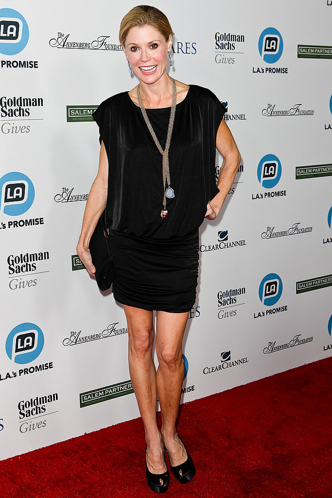 Julie Bowen in a black dress.