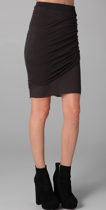 Swap out your basic black miniskirt for this one — curve-hugging draping makes it anything but basic. Pencey Standard Twist Skirt ($69)