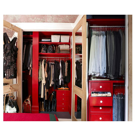 Make the most of a small wardrobe space by...