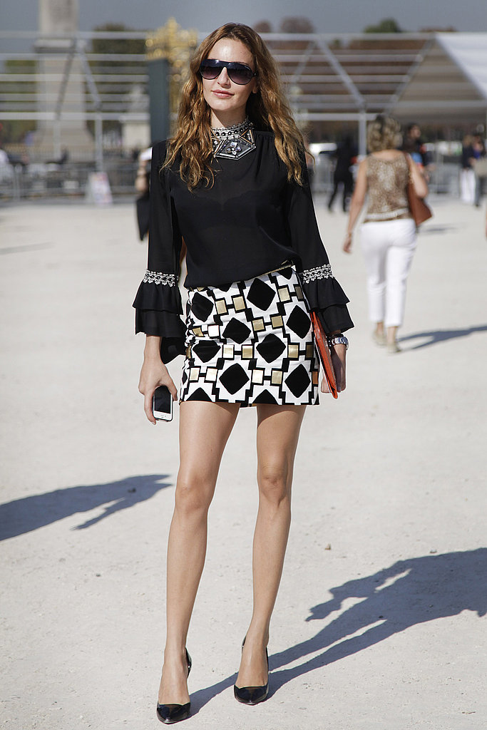 spring 2012 paris fashion week street style day 1 popsugar fashion. Black Bedroom Furniture Sets. Home Design Ideas