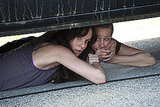 Sarah Wayne Callies as Lori Grimes and Melissa Suzanne McBride as Carol on The Walking Dead.   Photo courtesy of AMC