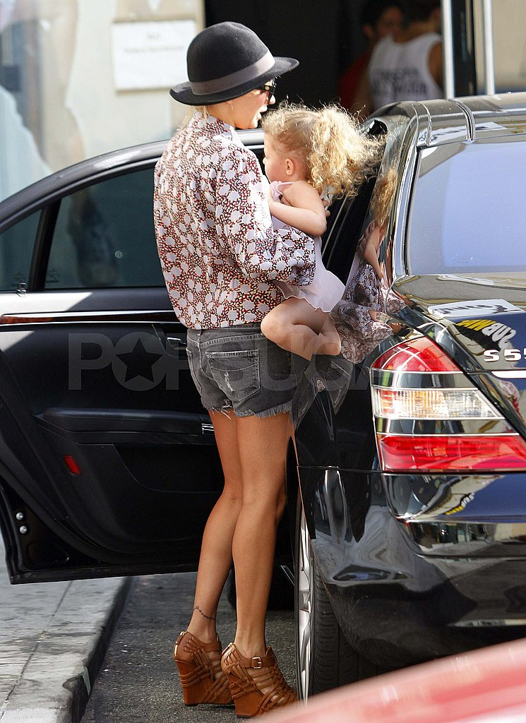 Nicole Richie with Harlow in LA.