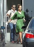 Jessica Alba and Cash Warren leave a studio in LA.