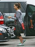 Jessica Alba in workout clothes in LA.
