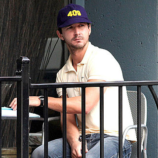 Shia LaBeouf Drinks Coffee in Toronto
