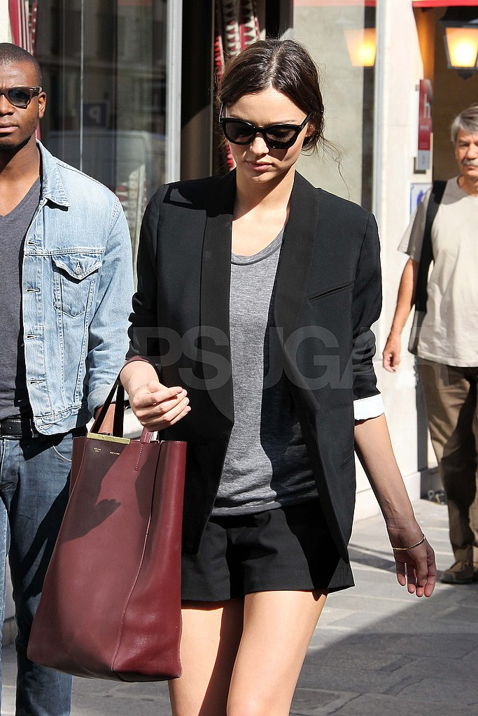 Miranda Kerr runs errands in Paris.