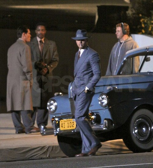 Ryan Gosling Spends a Night on Set With His Gangster Squad