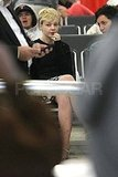 Carey Mulligan shows her engagement ring in Sydney.