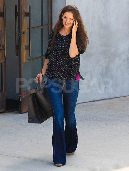 Kate Holmes Hangs in LA While Short-Haired Tom Cruise Reports For Duty