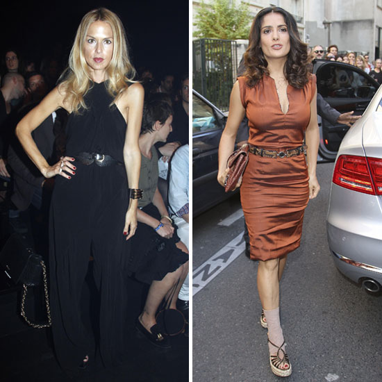Rachel Zoe and Salma Hayek Make the Scene at Paris Fashion Week