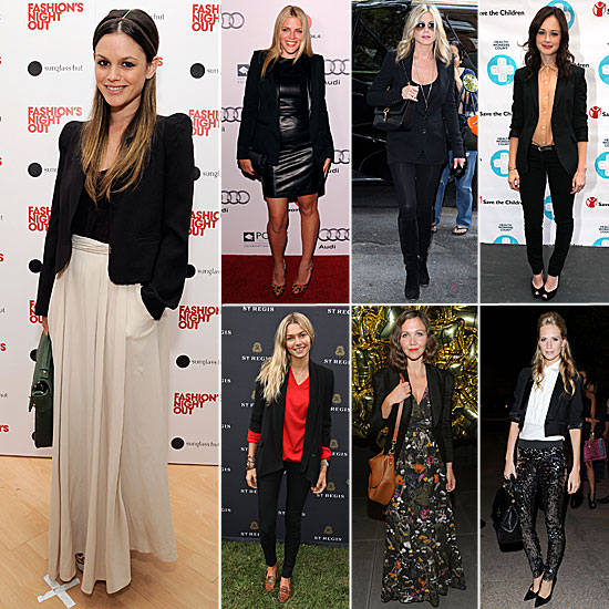 Celebrities Wearing Blazers For Fall 2011
