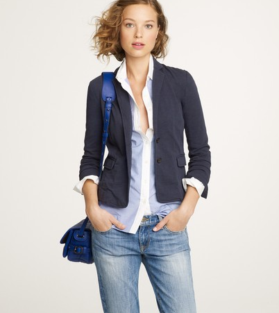 This shrunken blazer will help you perfect your street-smart Fall style.   J.Crew Maritime Blazer ($98)