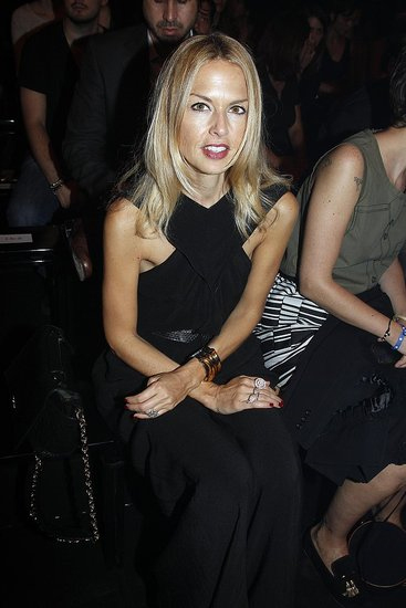 Rachel Zoe takes a front row seat at Thierry Mugler at Paris Fashion Week on Sept. 28.