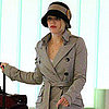 Rachel McAdams Pictures at LAX in a Trench and Hat