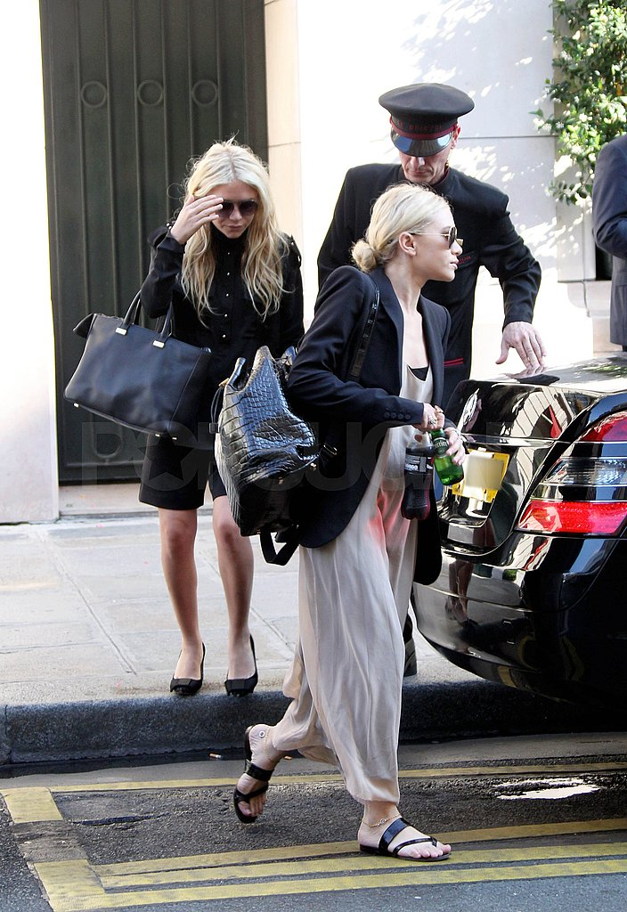 Mary-Kate also carried a large, black, designer tote.