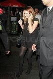 Lauren Conrad wore all black for her night out in LA.