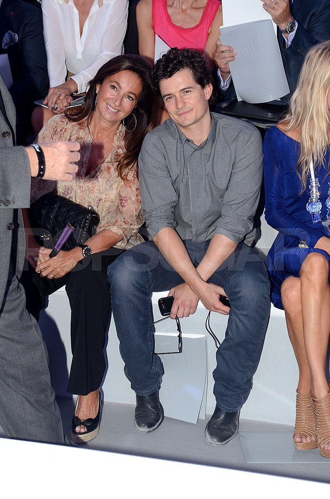 Orlando Bloom at Paris Fashion Week's Dior show.