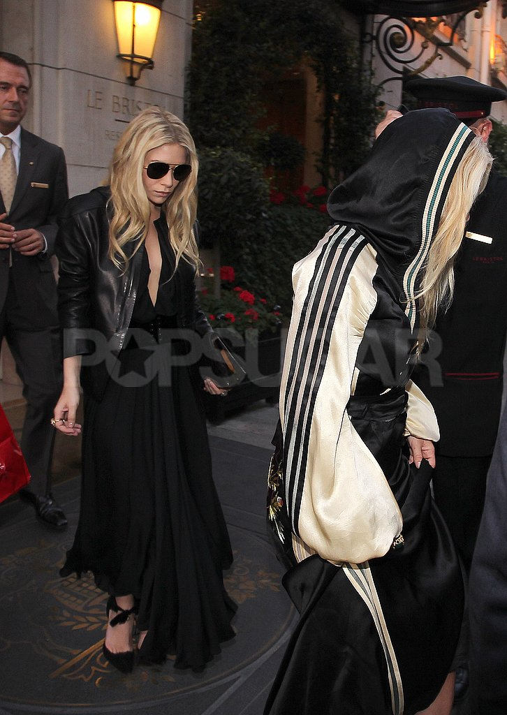 Ashley Olsen followed her sister, Mary-Kate, into an event.