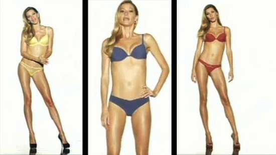 Video: Underwear-Clad Gisele Bundchen Stirs Up Debate