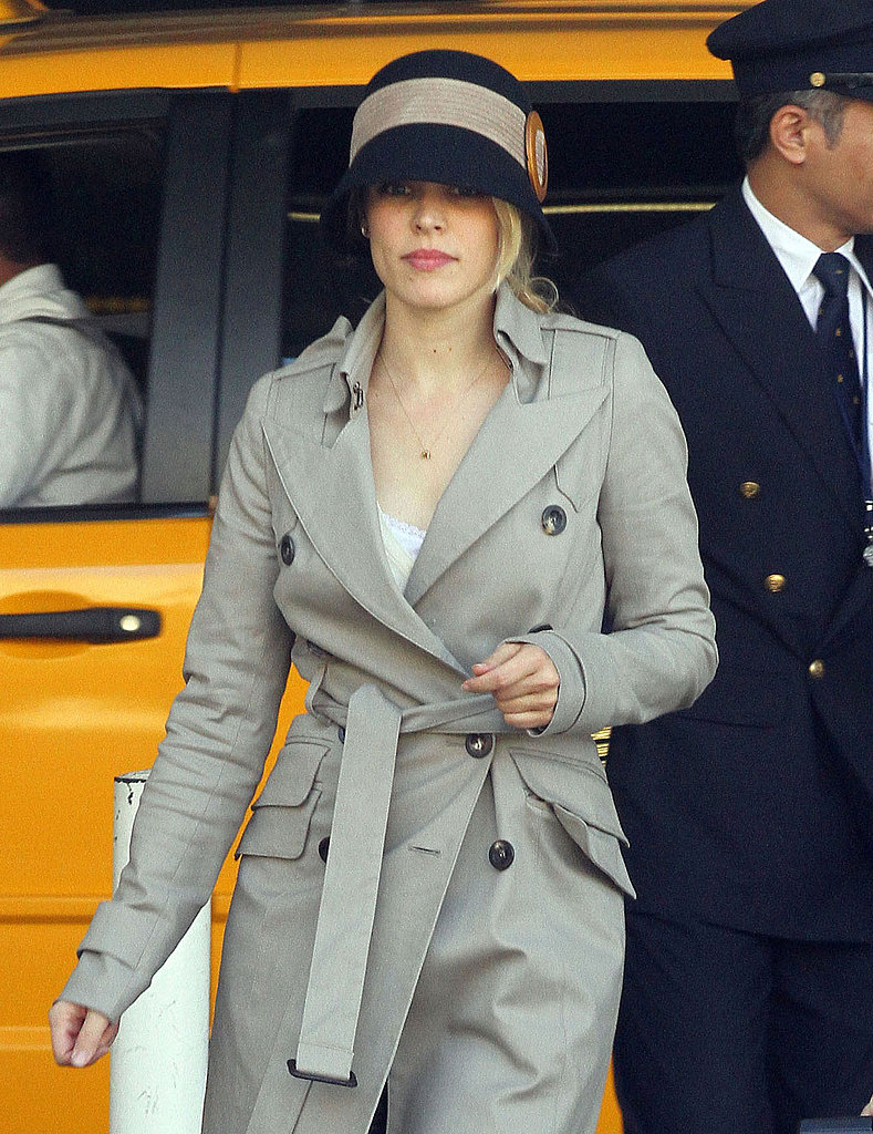 Rachel McAdams looked lovely in a cloche hat.