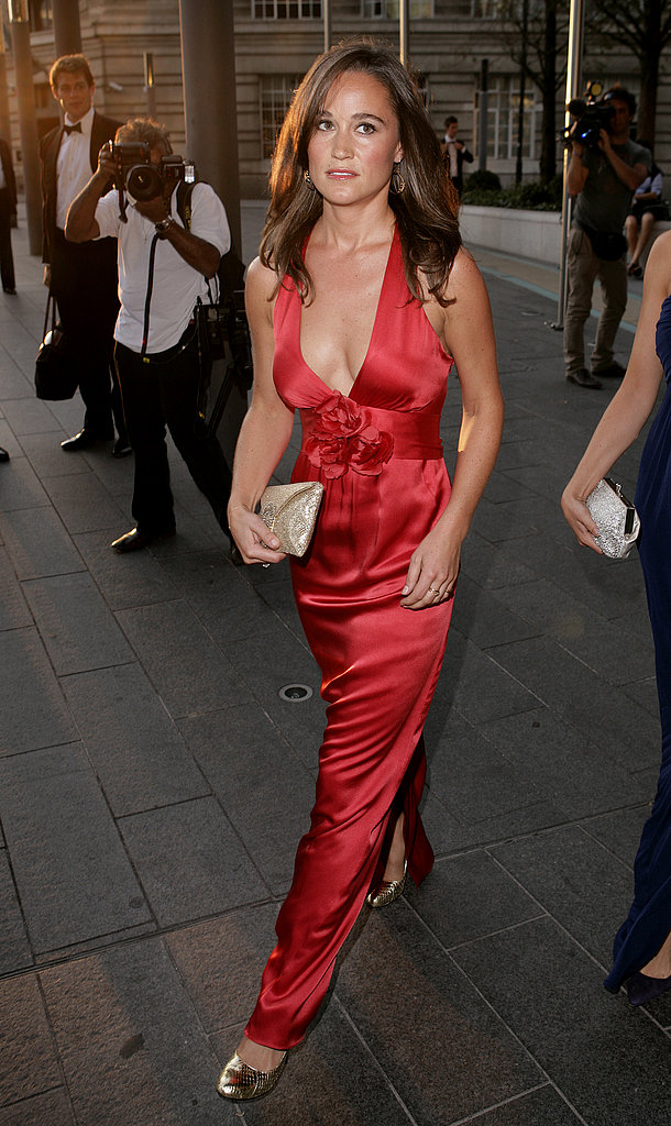 Pippa Middleton gorgeous in a red gown.