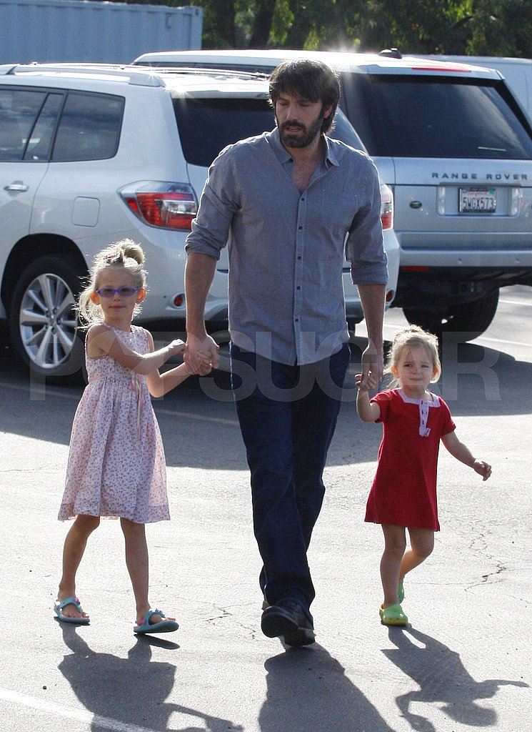 Ben Affleck Leads Seraphina and Violet by the Hand During Their LA Weekend