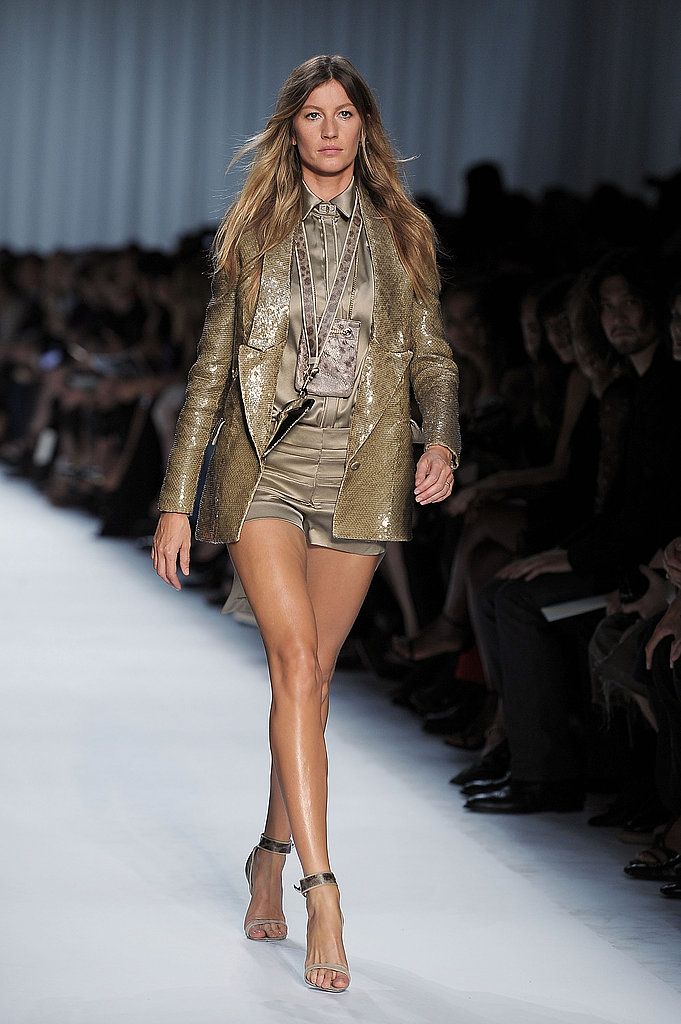 Gisele Bundchen on the Givenchy Spring 2012 runway.