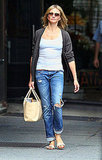 Cameron Diaz walks NYC.