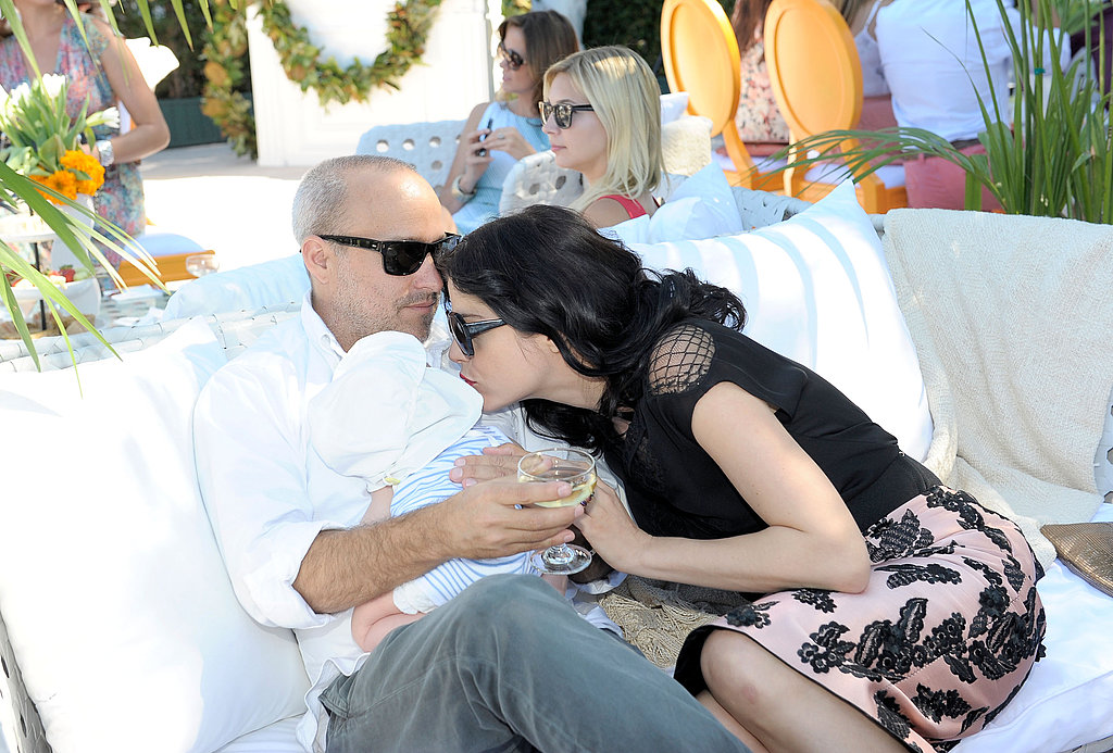 Selma Blair planted a kiss on Arthur Bleick.