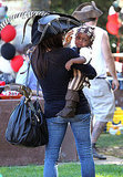 Sandra Bullock Carried Louis to a party in LA.