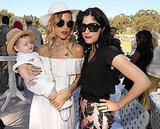 Rachel Zoe and Skyler Berman worked the camera with Selma Blair at a polo match in LA.