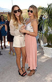 Lauren Bosworth and Lauren Conrad kept their shades on at a polo match in LA.
