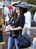 Sandra Bullock and Louis Bullock made the rounds at a pirate party in LA.