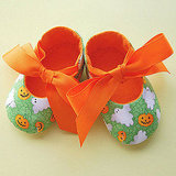 Pumpkins and Ghosts Halloween Baby Shoes ($30)