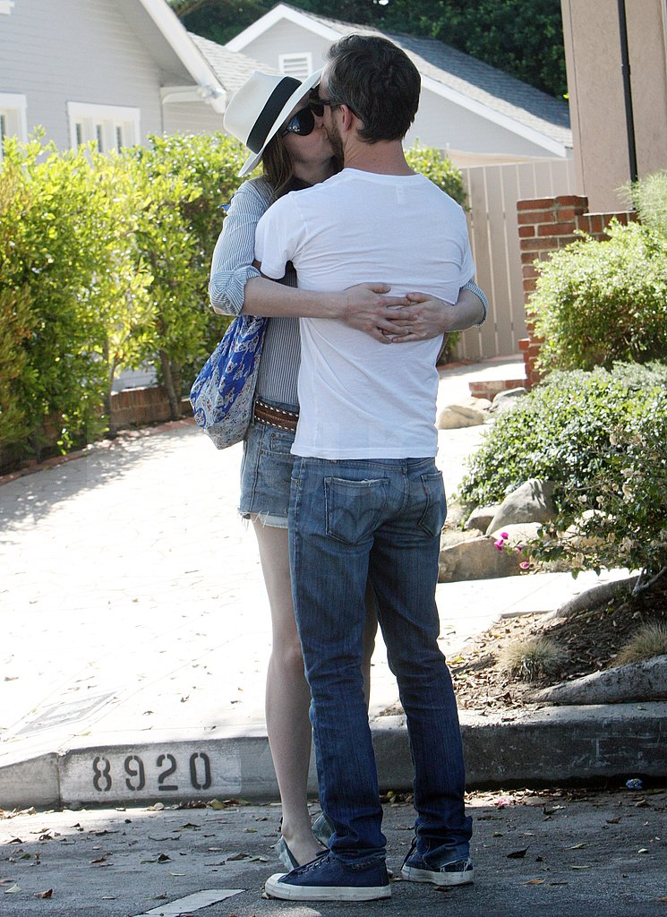Anne and Adam made out on the streets in LA.