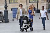Rachel Zoe and Rodger Berman took Skyler Berman for a stroll in the City of Lights.