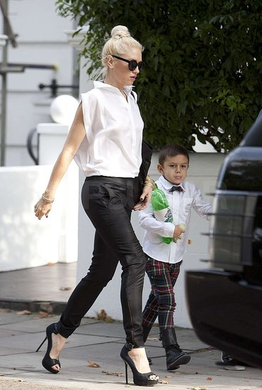 Gwen Stefani and Kingston Rossdale headed home.