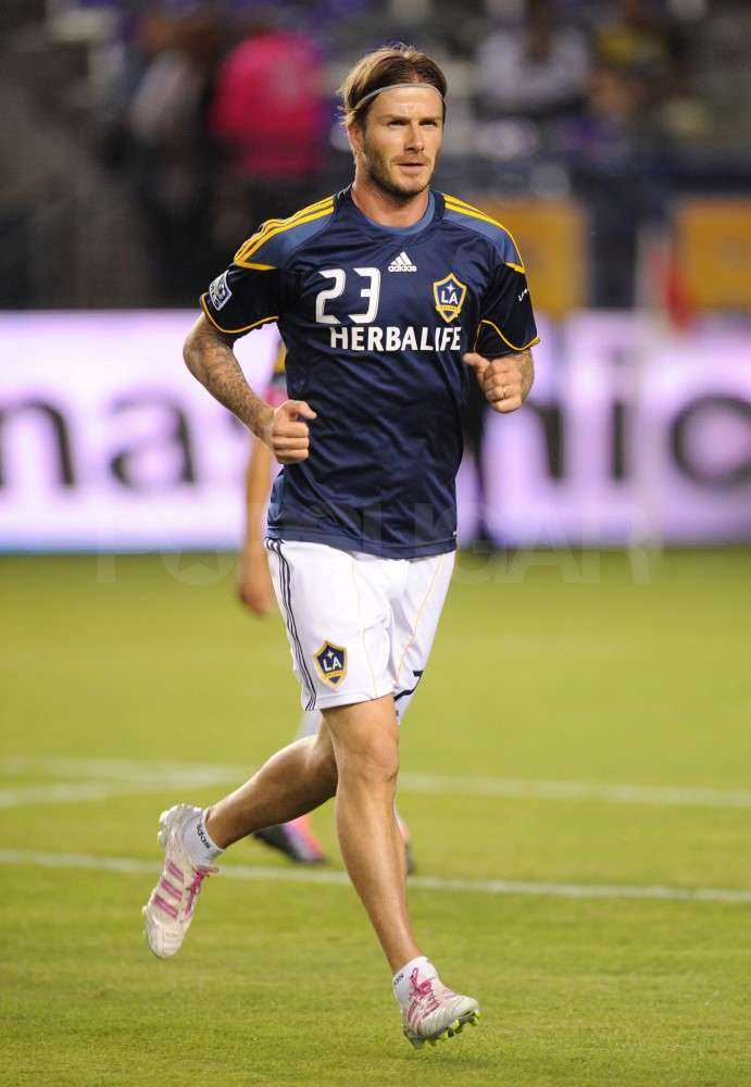 David Beckham helped lead his team to a win.