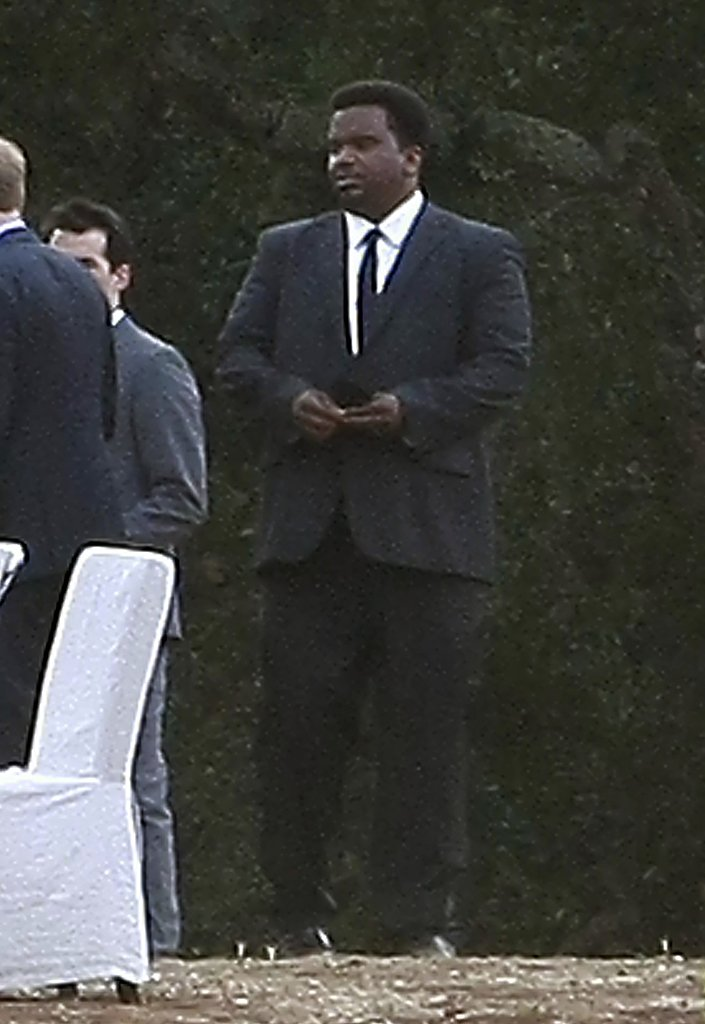 The Office star Craig Robinson suited up for Seth's wedding.